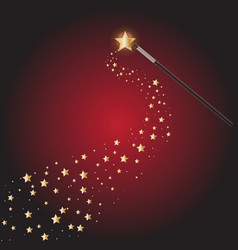 Magic wand with star trails vector