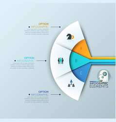modern infographic design layout 3 connected vector image vector image