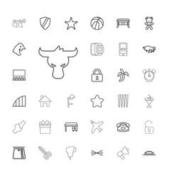 33 black icons vector