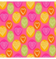 Abstract bright hearts vector image