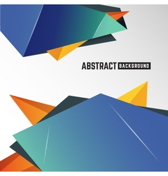 Abstract geometric polygon element background vector