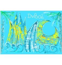 abstract skyline of dubai vector image vector image