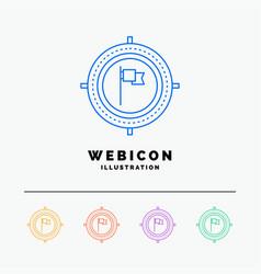 aim business deadline flag focus 5 color line web vector image
