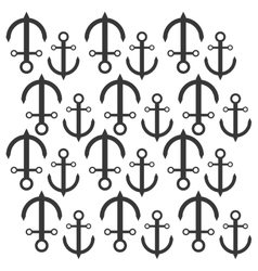 anchor nautical travel maritime seamless pattern vector image