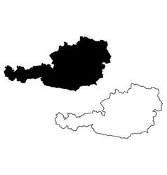 austrian map vector image