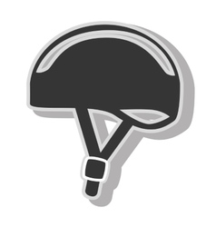 Bike helmet safety icon design vector image