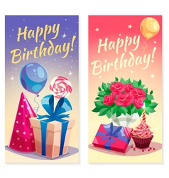 Birthday Party Vertical Banners vector