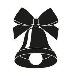 Black and white bell silhouette vector