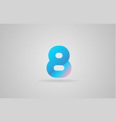 Blue pink number 8 logo icon design vector