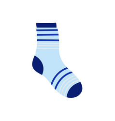 Boy sock icon flat style vector