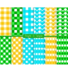 Bright and simple blue orange and green squares vector image