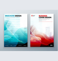 Brochure cover set template for brochure banner vector