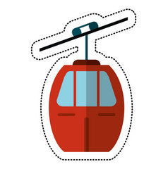 cable car transport shadow vector image