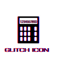 calculator icon flat vector image