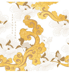 chinese seamless pattern with gold texture cloud vector image