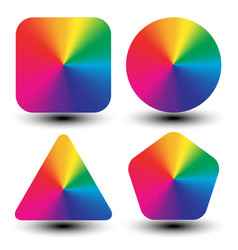 circular color wheels mapped with different vector image