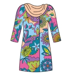 Coat colorful vector