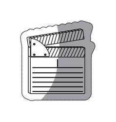 Contour clapper board icon vector