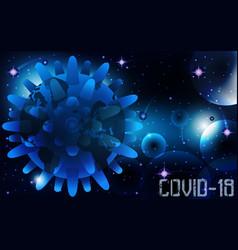 Coronavirus covid19-19 infects earth wallpaper vector