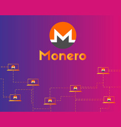 Cryptocurrency monero digital payment background vector