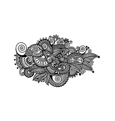 decorative paisley design floral indian pattern vector image