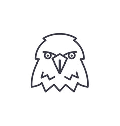 eagle head line icon sign on vector image
