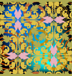 Embroidery colorful baroque seamless pattern vector