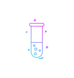 Experiment science test tube icon design vector