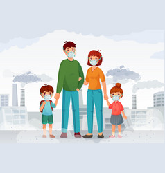 Family protection from contaminated air people in vector