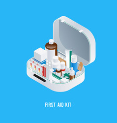 first aid kit background vector image