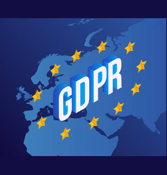gdpr text design with vector image