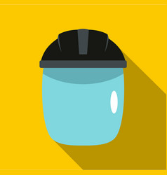 Glass welding mask icon flat style vector