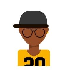 Glasses boy icon vector