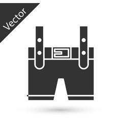 Grey lederhosen icon isolated on white background vector