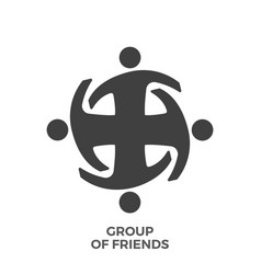 group of friends glyph icon vector image