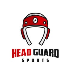 head guard sports logo vector image