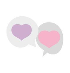hearts love romantic speech bubbles design vector image