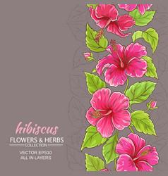 hibiscus background vector image