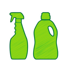 household chemical bottles sign lemon vector image vector image