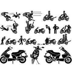 ICON MAN BIKER vector image