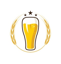 iluustration of glass with beer vector image