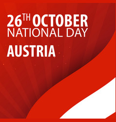 independence day of austria flag and patriotic vector image