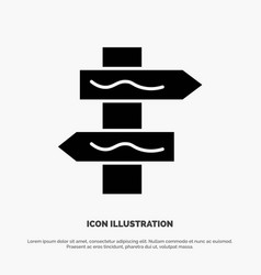 Index navigation road solid glyph icon vector