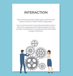 Interaction visualization vector