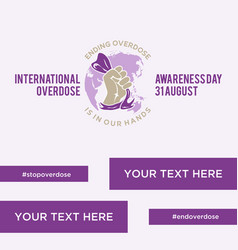 International overdose awareness day vector