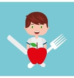 kids menu restaurant icon vector image