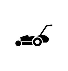 lawn mower gardening grass cutter flat icon vector image