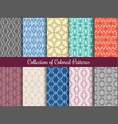 Modern floral pattern set in vintage style vector