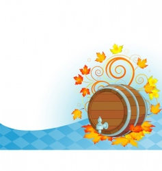 Oktoberfest design with keg vector image