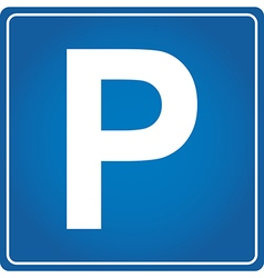 Parking vector image